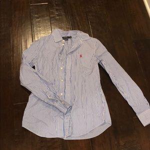 Ralph Lauren Button Up (Blue)